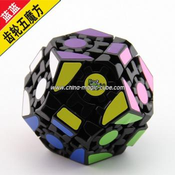 <Free Shipping>Lanlan Gear Dodecahedrons  black Magic Cube