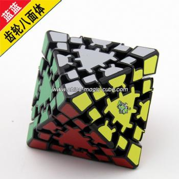 <Free Shipping>LanLan Timur Gear Corner Turning Octahedron with Gear Stickers Black Body