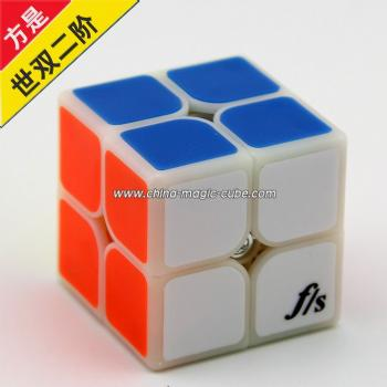 <Free Shipping>Funs 2x2x2 (50MM) Fangshi Shishuang Magic Cube Puzzle Cube Primary Color with Tile