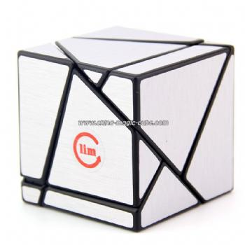 Funs LimCub epocket 2x2 silver Cube red Magic Cube Puzzles Toy