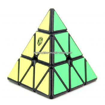 QiYi Magnetic Pyraminx Black Bell Magic Cube Speed Puzzle