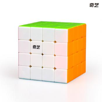 Qi Yuan S 4x4 Stickerless Magic Cube Puzzle Speed Cube - Colorful