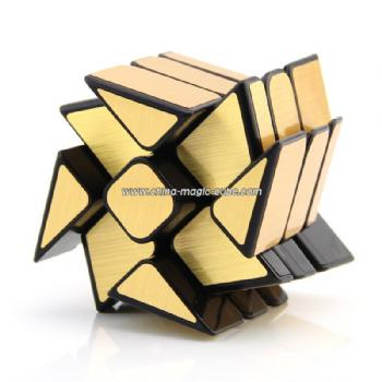 2017 New Moyu Mofangjiaoshi WindMirror gold 3Layers Cube Windmill Magic Cube Twist Puzzle Speed Cube Special Toys 3x3x3