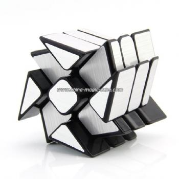 2017 New Moyu Mofangjiaoshi WindMirror silver  3Layers Cube Windmill Magic Cube Twist Puzzle Speed Cube Special Toys 3x3x3