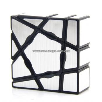 YongJun Ghost Cube Irregular 1X1 Speed Cube - Silver