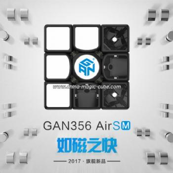 GAN356 Air SM Magnetic Version 3x3 Speed Cube - Black